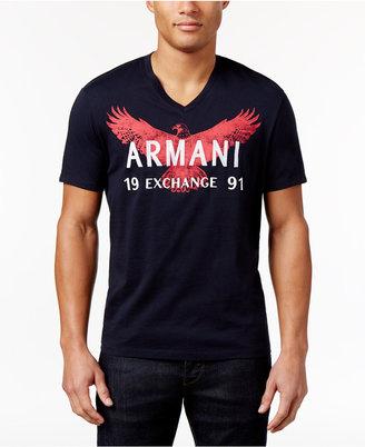 Armani Exchange Men's Graphic-Print T-Shirt $49.50 thestylecure.com