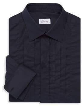 Brioni Pleat-Front Dress Shirt