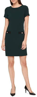 Tommy Hilfiger Scuba Crepe Shift Dress