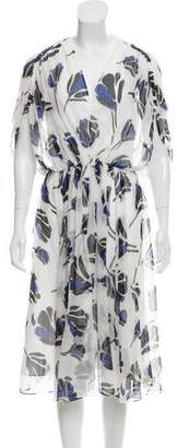 Jason Wu Grey by Floral Print Midi Dress