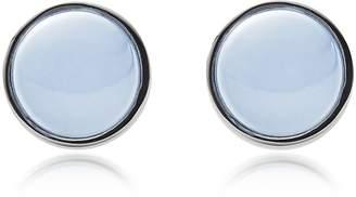 Skagen Sea Glass and Stainless Steel Women's Round Earrings