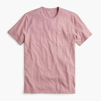 Garment-dyed slub cotton crewneck T-shirt