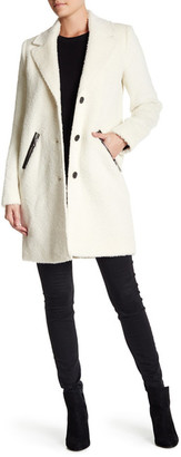 Andrew Marc Genuine Leather Trim Wool Blend Charlotte Coat $695 thestylecure.com