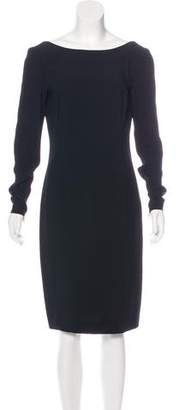 Prada Backless Long Sleeve Dress