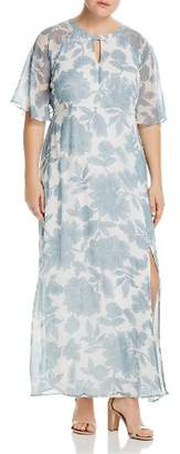 Junarose Plus Floral-Print Maxi Dress