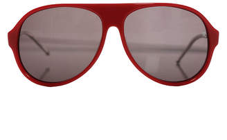 Raf Simons Red Aviator Sunglasses
