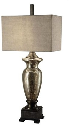 Crestview Collection Antique Glass 40-Inch Table Lamp, Aged Nickel