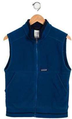 Patagonia Boys' Mock Neck Zip-Up Vest