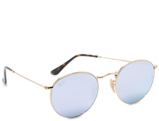 Ray-Ban Phantos Round Sunglasses $175 thestylecure.com