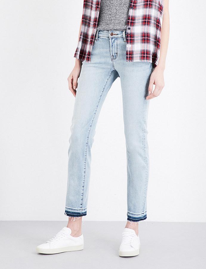 J BrandJ BRAND Amelia straight mid-rise jeans
