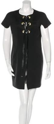 Marni Lace-Up Mini Dress