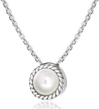 Swarovski Tuscany Silver Women's Sterling Silver and Pearl June Birthstone Necklace of Length 46 cm/18 Inch