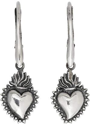 Ugo Cacciatori Silver Tiny Ex Voto Hoop Earrings
