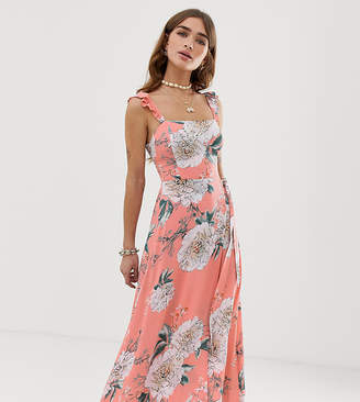 39bb2a22c5f4 Sisters Of The Tribe Petite maxi dress with leg split