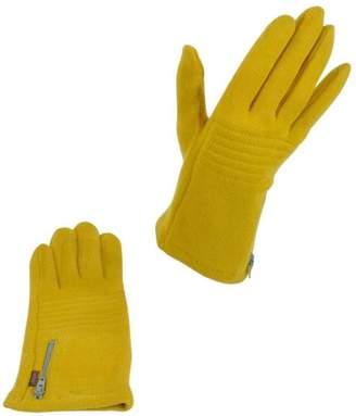 Echo Mustard Zip Gloves