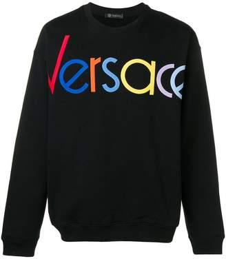 Versace logo embroidered sweatshirt
