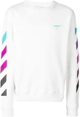 Off-White contrast logo sweatshirt