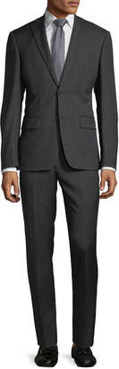 DKNY Slim-Fit Neat Wool Two-Piece Suit, Black