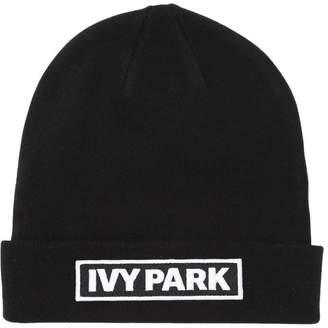 Ivy Park Logo Patch Beanie Hat