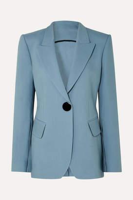 Petar Petrov Jovan Wool And Silk-blend Twill Blazer - Blue