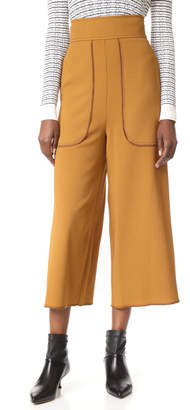 See by Chloe Cropped Wide Leg Trousers $345 thestylecure.com