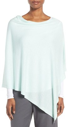 Women's Eileen Fisher Silk & Organic Linen Poncho $158 thestylecure.com