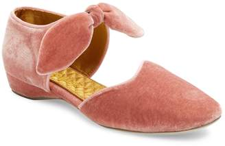 F-Troupe Women's Textured Pointed-Toe Flat