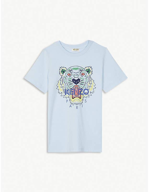 Tiger-print cotton T-shirt 4-16 years