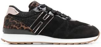Hogan animal print sneakers