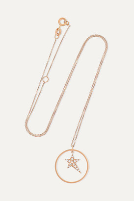 Diane Kordas Star Charm 18-karat Rose Gold Diamond Necklace