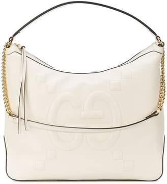 Gucci embossed GG hobo bag
