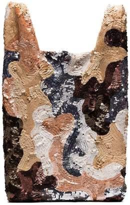 Ashish multicoloured sequin patchwork tote bag