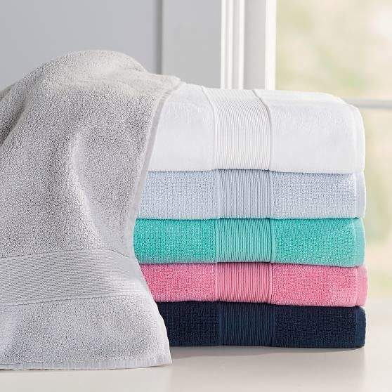 Classic Organic Bath Towels, Hand, Bright Navy