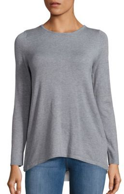 Heathered Long Sleeve Pullover $89 thestylecure.com