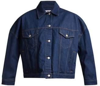 MM6 MAISON MARGIELA Oversized Cotton Denim Jacket - Womens - Indigo