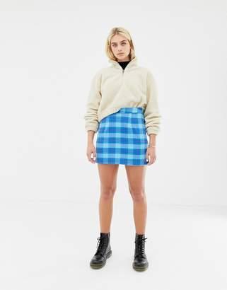 Noisy May plaid skirt