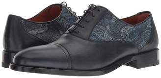 Etro Paisley Printed Cap Toe Oxford Men's Shoes