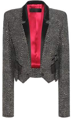 Haider Ackermann Cropped virgin wool-blend blazer