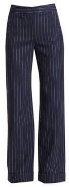 Jonathan Simkhai Pinstripe Wool-Blend Pants