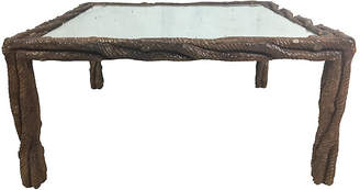 One Kings Lane Vintage Carved Faux Bois Coffee Table