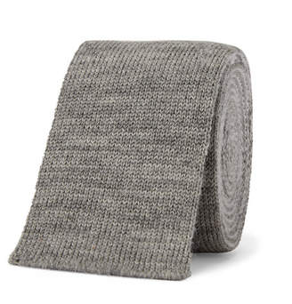 Thom Browne 5cm Striped Knitted Mélange Wool Tie