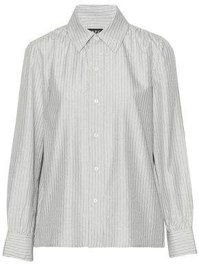 A.P.C. Metallic Striped Woven Silk-Blend Shirt