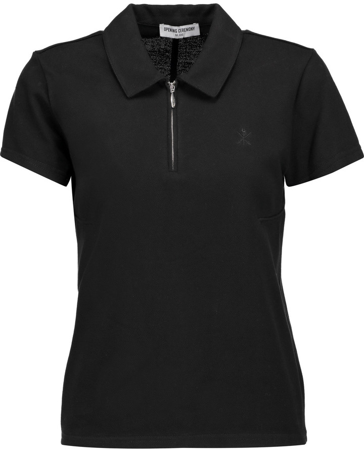 Opening Ceremony Opening Ceremony Torch cotton-blend piqué polo shirt
