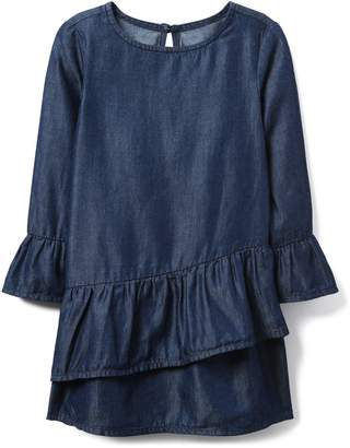 Crazy 8 Crazy8 Toddler Chambray Ruffle Dress