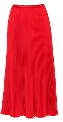 Prada Pleated crêpe midi skirt