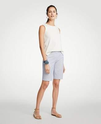 Ann Taylor Petite Railroad Stripe Boardwalk Shorts