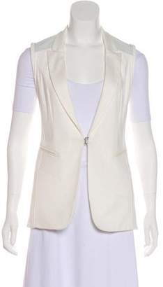 Rag & Bone Leather-Trimmed Notch-Lapel Vest