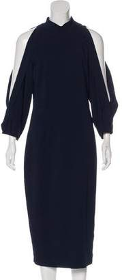 Cushnie et Ochs Cold-Shoulder Midi Dress