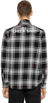 "Off-White ""Check Shirt"" Cotton Flannel Shirt"