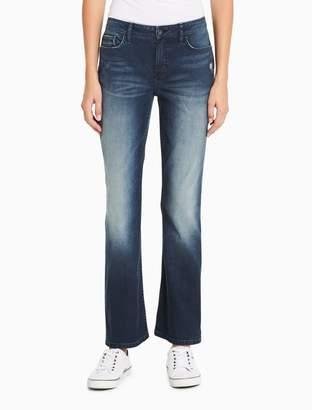 Calvin Klein curvy bootcut sand cyclone jeans